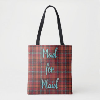 Mad for Plaid Tote Bag