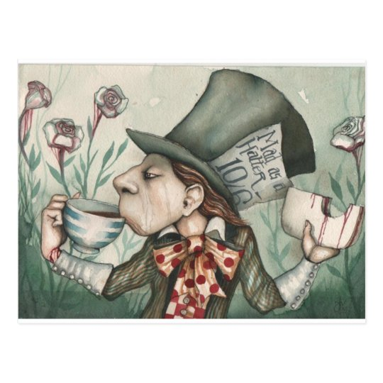 mad hatter 2 postcard