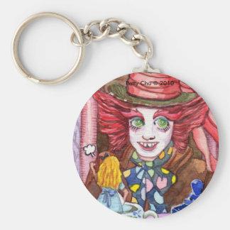 Mad Hatter and Mini Alice Keychain
