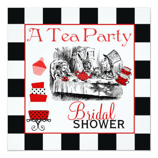 Mad Hatter Bridal Shower Invite