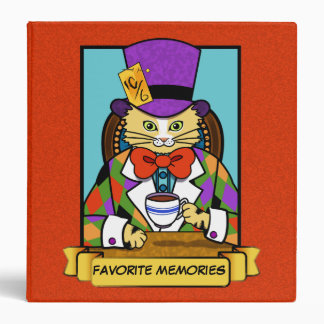 Mad hatter Cat 3 Ring Binders