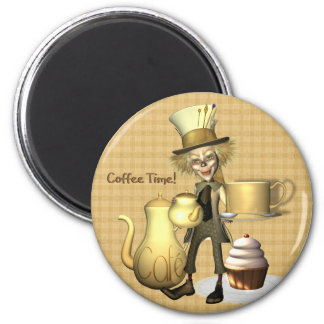 Mad Hatter Coffee Time Fridge Magnet