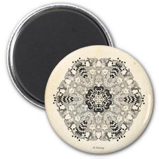 Mad Hatter Kaleidoscope 2 Inch Round Magnet