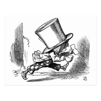 Mad Hatter Running Postcard