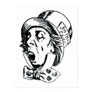Mad Hatter Speech Postcard