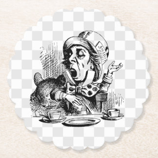 Mad Hatter Talking Paper Coaster