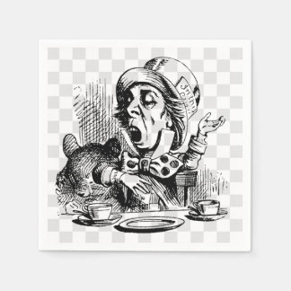 Mad Hatter Talking Paper Napkin