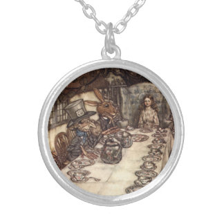 Mad Hatter Tea Party Arthur Rackham Necklace