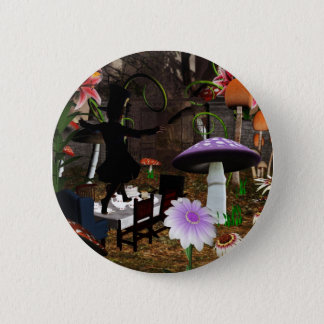 Mad hatter tea party button