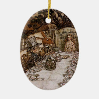 Mad Hatter Tea Party by Arthur Rackham Ornament