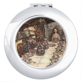 Mad Hatter Tea Party by Rackham Compact Travel Mirror