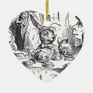 Mad Hatter Tea Party Ceramic Ornament
