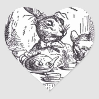 Mad Hatter Tea Party Heart Sticker