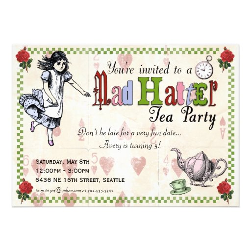 Mad Hatters Tea Party Invitation as nice invitations layout