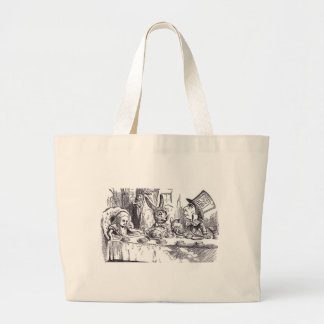 Mad Hatter Tea Party Large Tote Bag