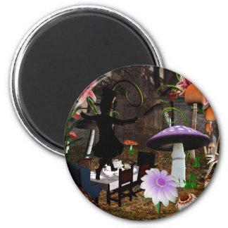 Mad hatter tea party magnet