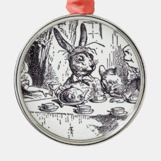 Mad Hatter Tea Party Metal Ornament