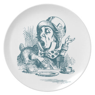 Mad Hatter Tea Party Plate