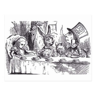 Mad Hatter Tea Party Postcard