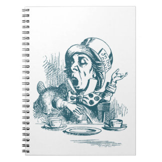 Mad Hatter Tea Party Spiral Notebooks