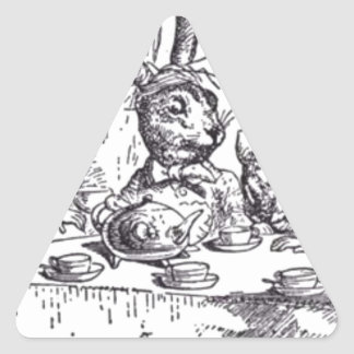 Mad Hatter Tea Party Triangle Sticker