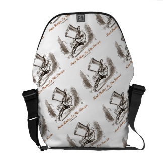 Mad Hatter To The Rescue Wonderland Sentiment Courier Bag