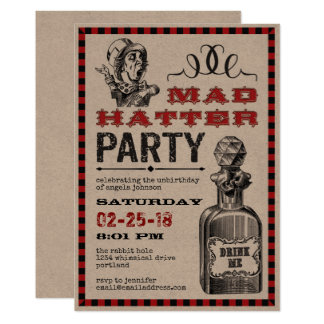 Mad Hatter Unbirthday Party Card
