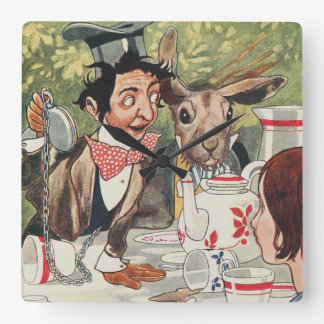 Mad Hatter Vintage Painting Wall Clock