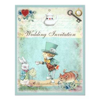Mad Hatter Wonderland Wedding Card