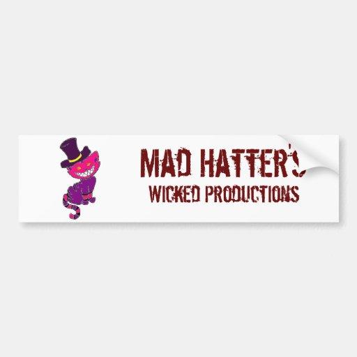 Mad Hatter's Bumper Bumper Sticker
