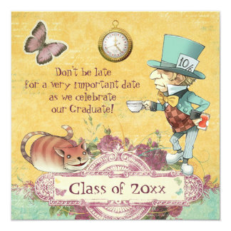 Mad Hatter's Graduation Party Card