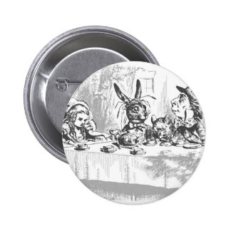 Mad Hatter's Tea Party 2 Inch Round Button