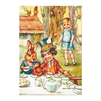 Mad Hatter's Tea Party - Alice In Wonderland Canvas Prints