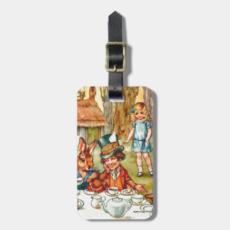 Mad Hatter's Tea Party  - Alice in Wonderland Luggage Tag