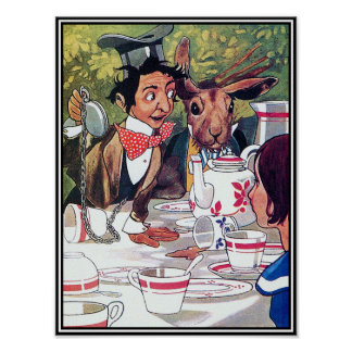 Mad Hatter's Tea Party - Alice in Wonderland Poster