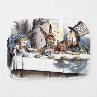 Mad Hatters Tea Party Pastels Burp Cloth