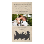 Mad Hatters Tea Party Wedding Thank You Photo Card