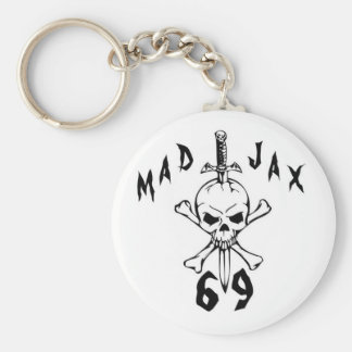 Mad Jax 69 Skull Keychain