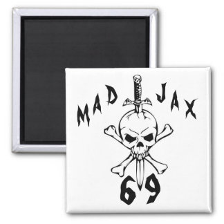Mad Jax 69 skull Square Magnet