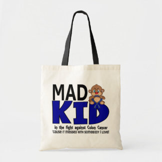 Mad Kid Colon Cancer Tote Bags