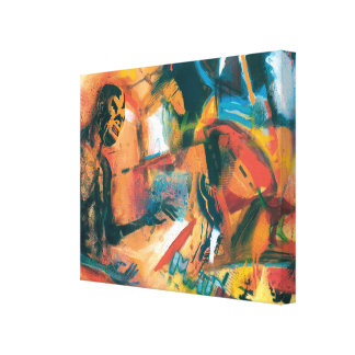 Mad Lucha Contemporary Canvas Print