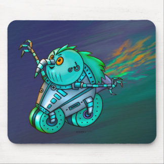 MAD MAX CHICKEN ROBOT CUTE ALIEN CARTOON MOUSE PAD