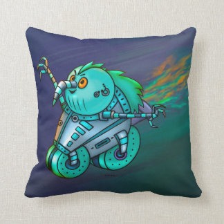 MAD MAX CHICKEN ROBOT THROW PILLOW  16 X 16