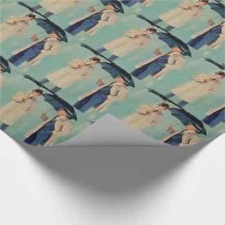 Mad Men era umbrella men Wrapping Paper