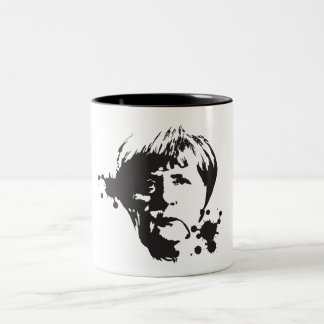 Mad Merkel Two-Tone Coffee Mug