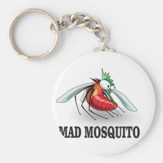 mad mosquito yeah basic round button keychain