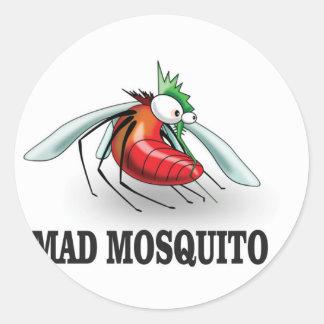 mad mosquito yeah classic round sticker