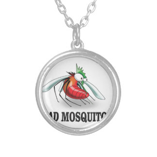 mad mosquito yeah silver plated necklace