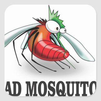 mad mosquito yeah square sticker