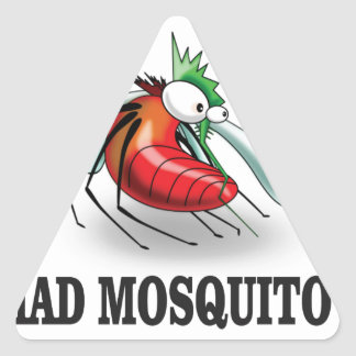 mad mosquito yeah triangle sticker